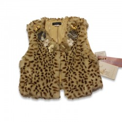 Fur vest with cheetah spots by Kate Mack