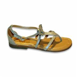 GALLUCCI FLAT SANDALS IN BEIGE