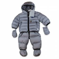 Baby Hooded Snow-Suit by ADD in grey