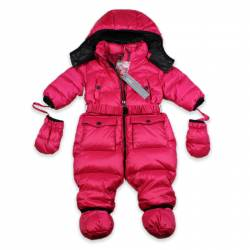Baby Hooded Snow-Suit by ADD in fuchsia