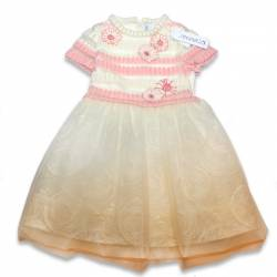 Simonetta knitted and tulle dress