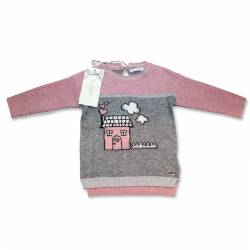 Pink and grey jersey by Byblos